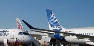 Airbus planes at the Farnborough Air Show