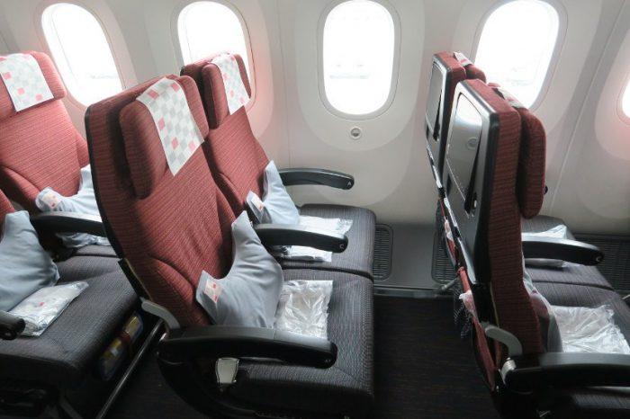 JAL economy 787