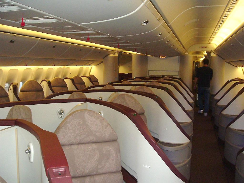 jet airways business class cabin
