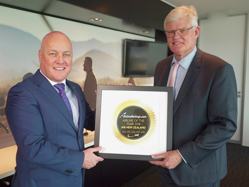 Air NZ wins AirlineRatings Airline of the Year 2018