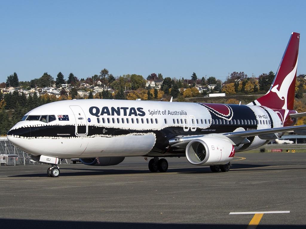 Qantas's indigenous design Mendoowoorrji