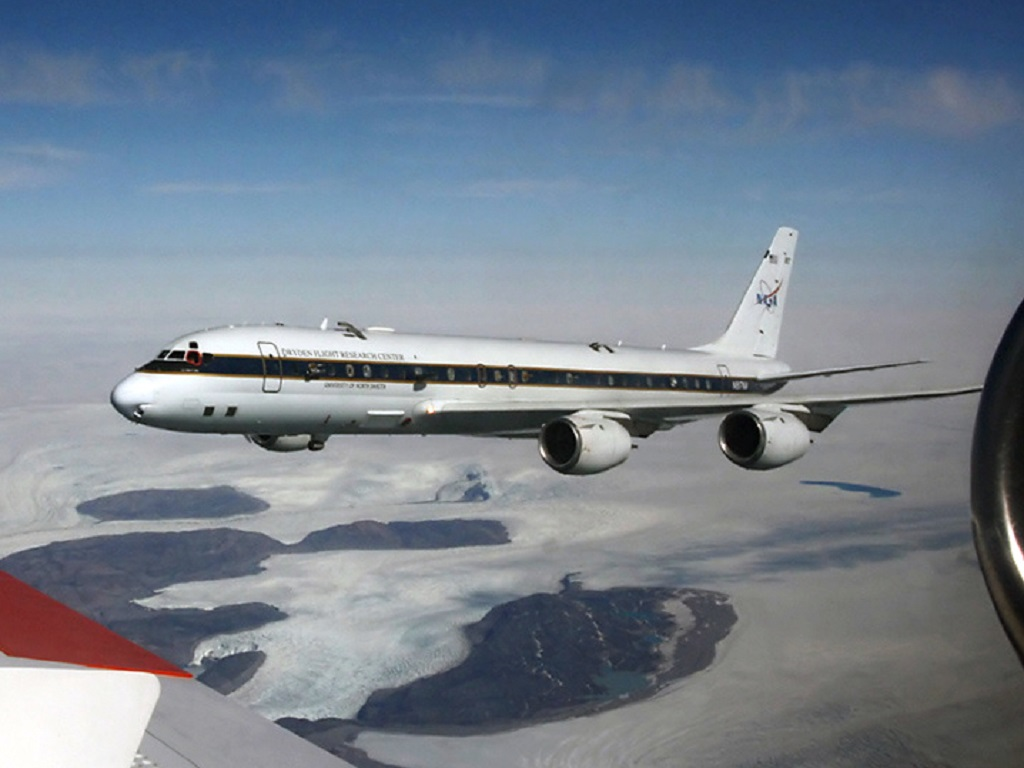 NASA DC-8 -72 over Antarctica