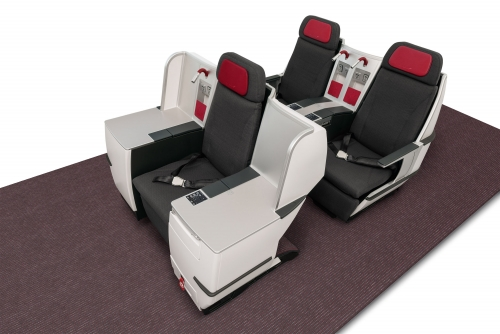 New Business Class lay flat beds for Austrian Airlines Picture: Austrian Airlines