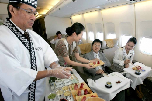 Asiana on board chef in Business Class   Picture: Asiana