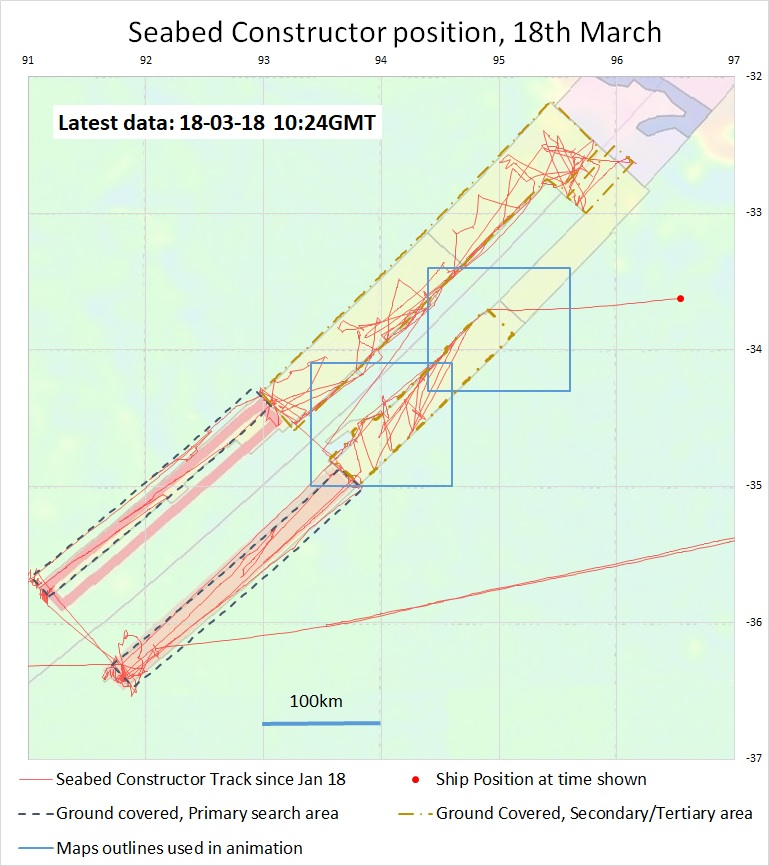 Search area showing the track of Seabed Constructor and its AUVs. Source Richard Cole.