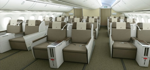Business Class on the 787 Dreamliner  Picture: Royal Brunei