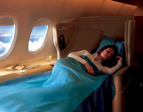 Singapore Airlines New Business Class Bed Picture: Singapore Airlines