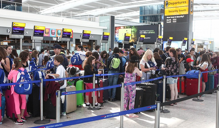 Airports like London's Heathrow can be stressful