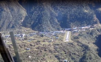 Lukla airport is the scariest