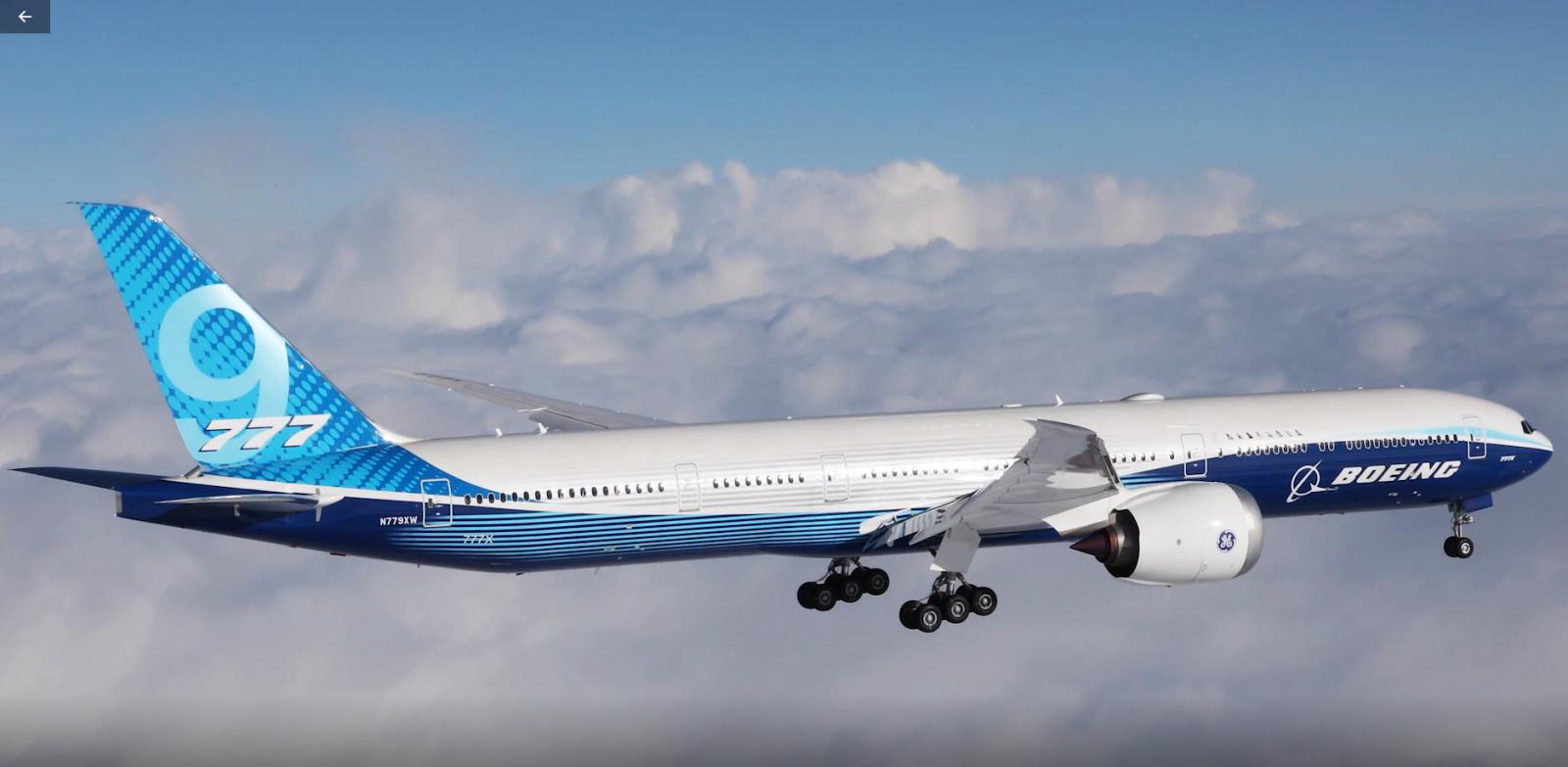 First Flight Boeing 777x