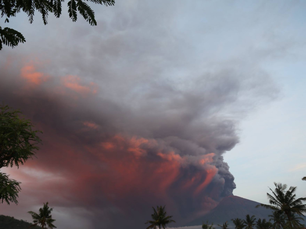 Mount Agung ash cloud