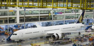 Singapore Boeing 787-10 first