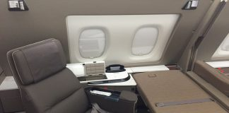 Singapore Airlines new A380 first class