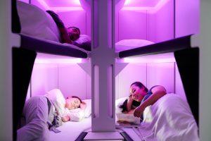 Skynest economu Air New Zealand sleep pods