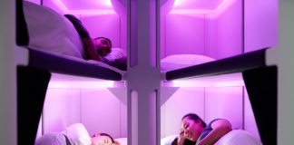 Skynest economu Air New Zealand sleep pods