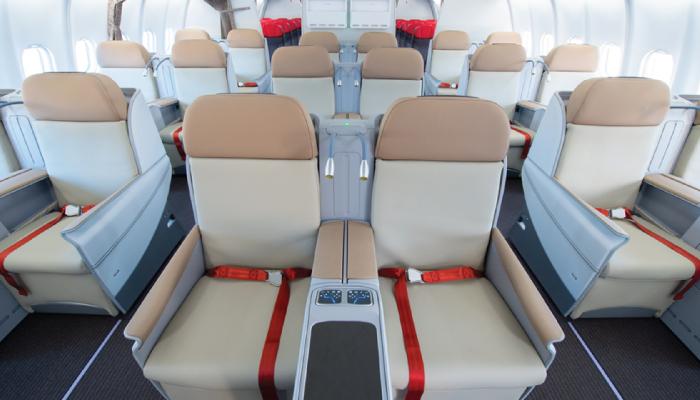 Thai lion Air A330 premium economy seat front