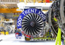 Trent XWB 500th delivery Rolls-Royce