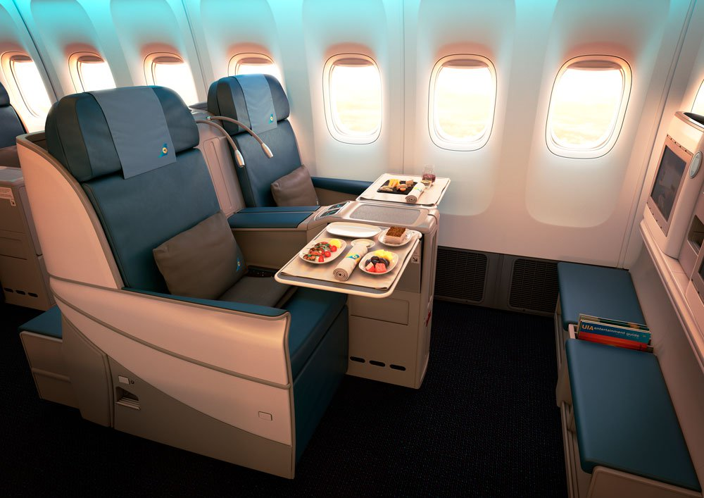 UIA business class seat