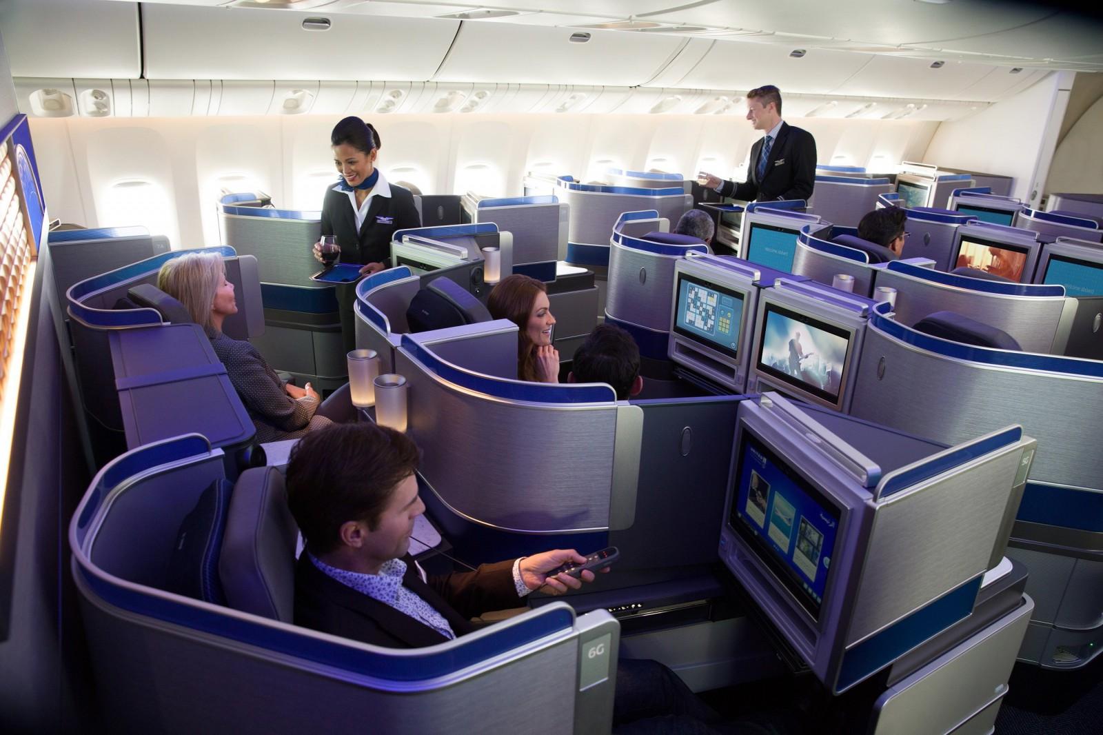 United Airlines Polaris Class Cabin