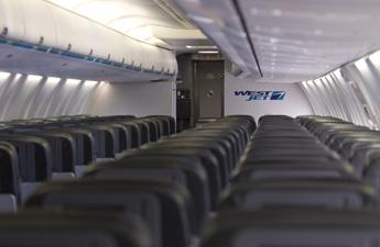 WestJet economy class cabin.