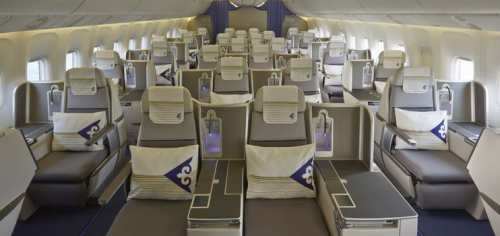 Business Class cabin on the 767 Picture: Air Astana