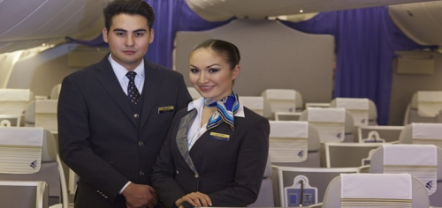 Air Astana Cabin crew in Business Class  Picture: Air Astana
