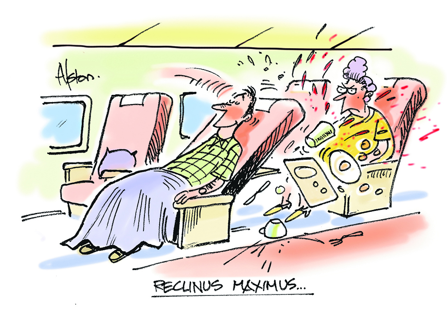 Passengers who recline their seats