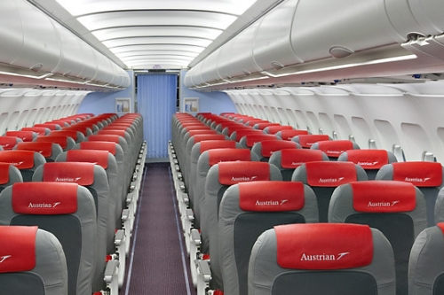 Austrian Airlines Economy  Class cabin  Picture: Austrian Airlines