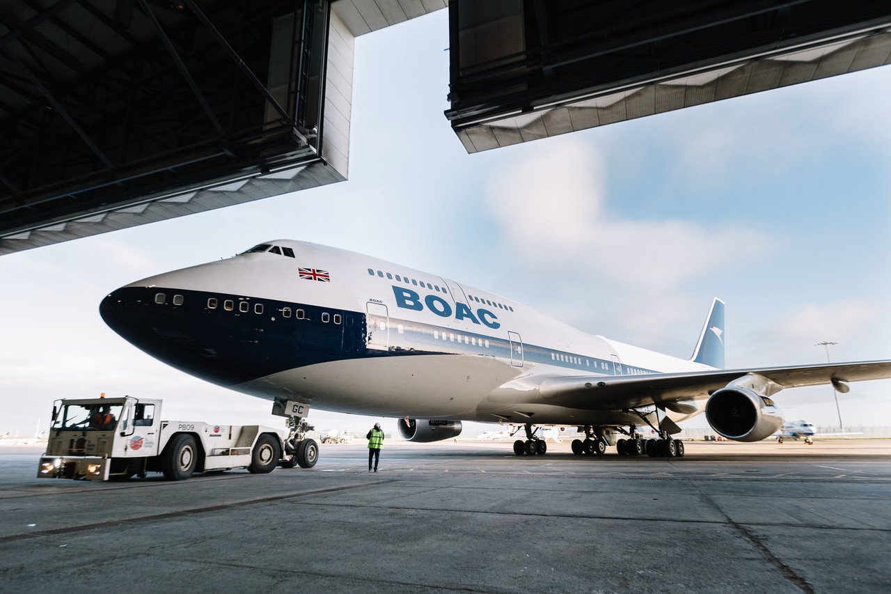 British Airways unveils BOAC retro livery
