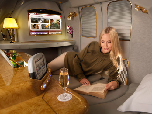 Emirates First Class Suite  Picture: Emirates