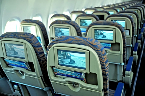 In flight entertainment  Picture: Fly Dubai
