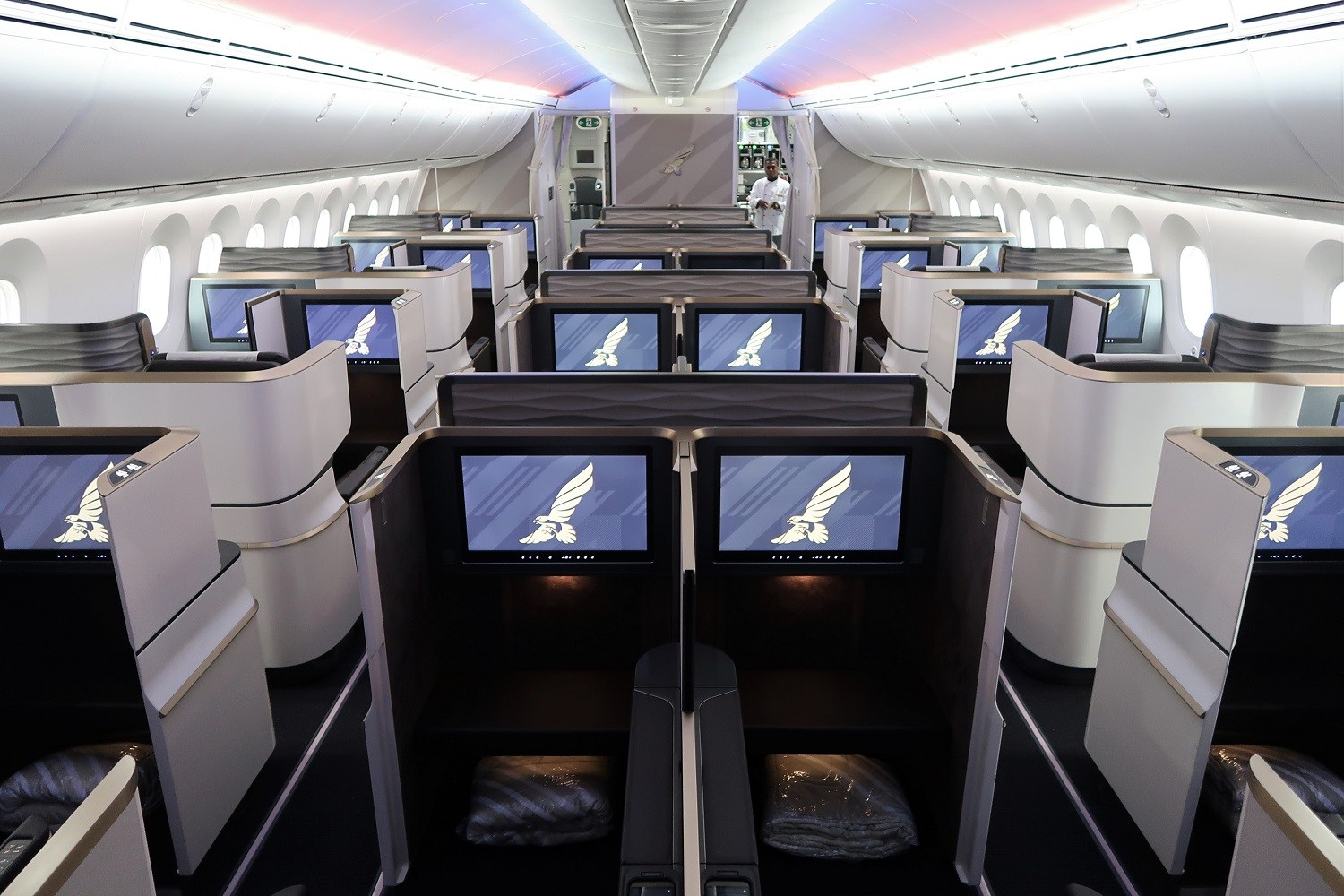 gulf air business class on the 787