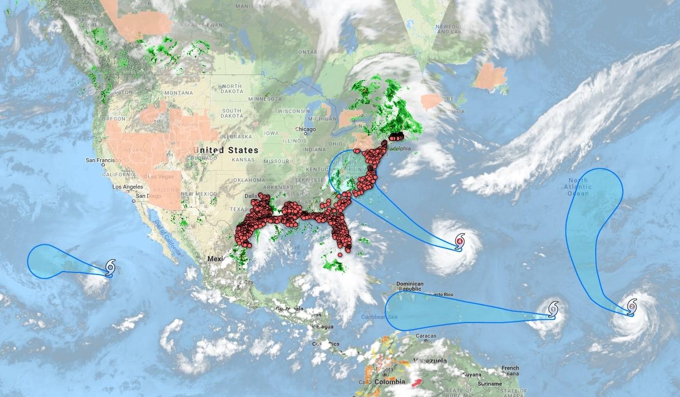 Hurricane triple whammy
