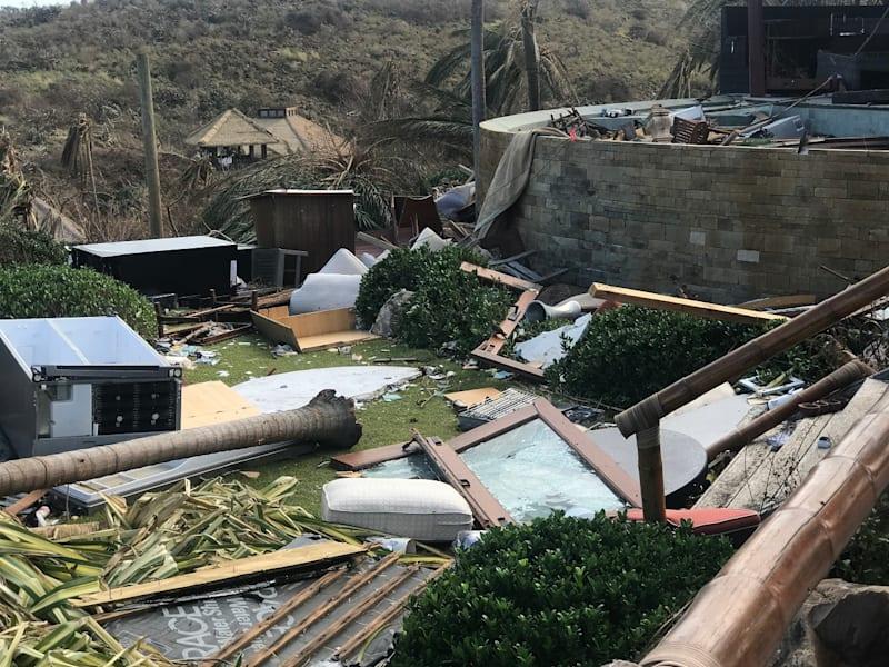 Branson island damage irma