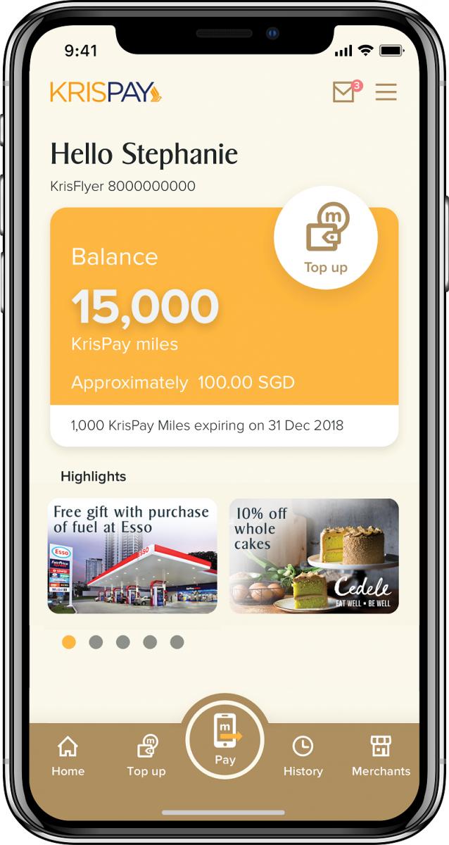 digital wallet KrisPay Singapore