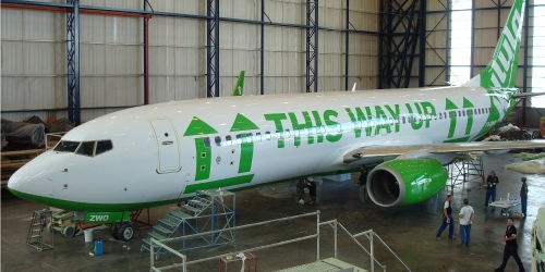 One of the many humerous liverys Kulula have used on  their aircraft  PIcture: Kulula