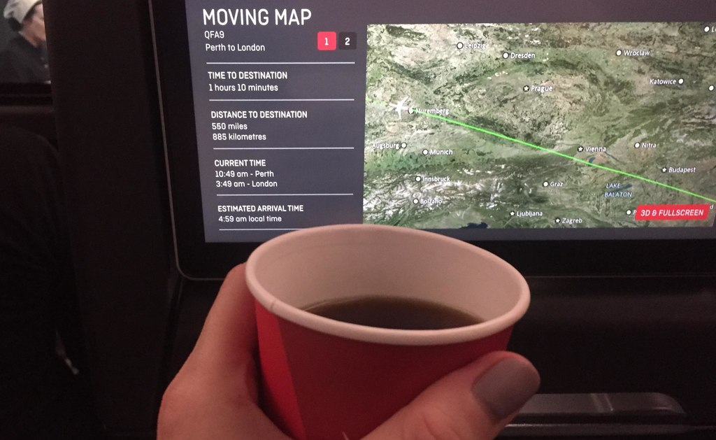 qantas non-stop economy Perth-London