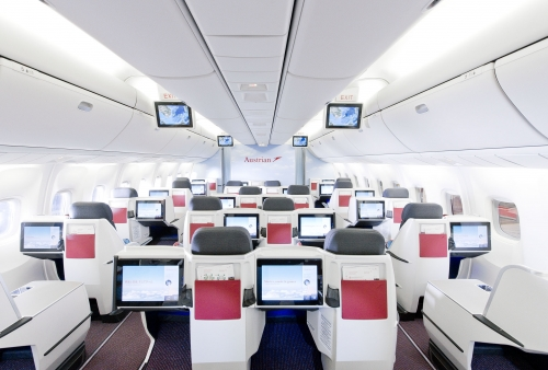 Austrian Airlines new Business class cabin on the 767  Picture: Austrian Airlines