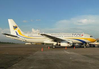 Myanmar Airways International A320 PIcture: MAI
