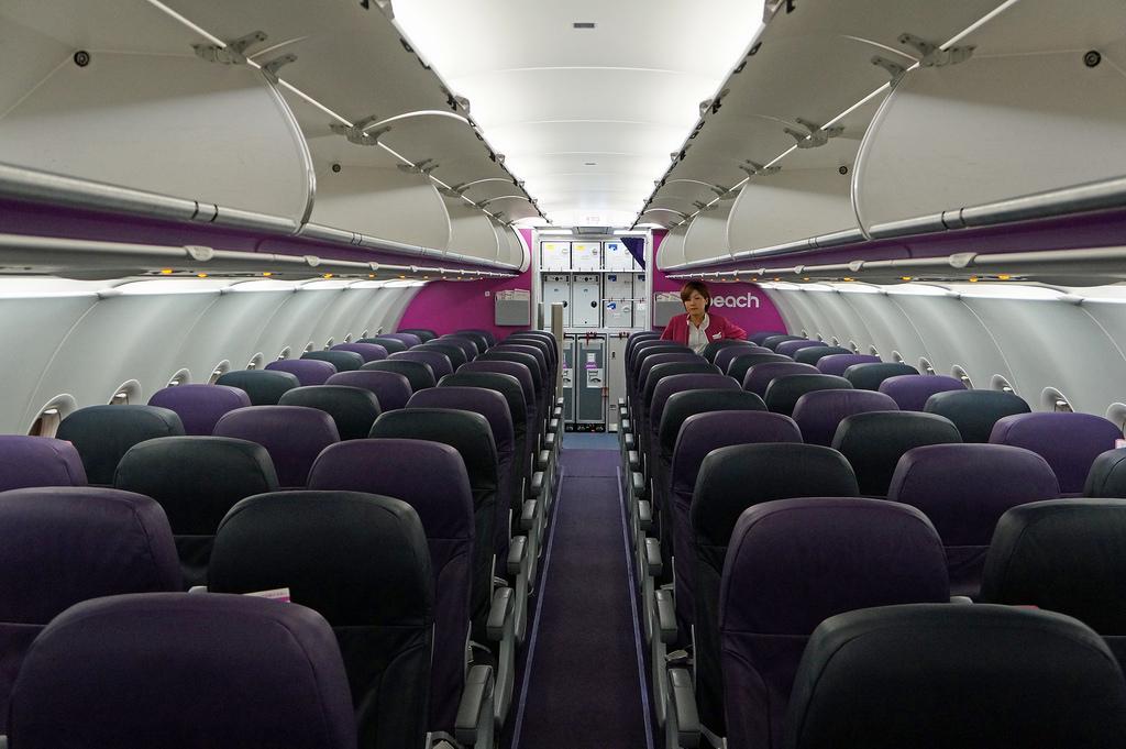Peach Air all economy cabin