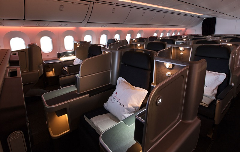 Qantas 787 Dreamliner business