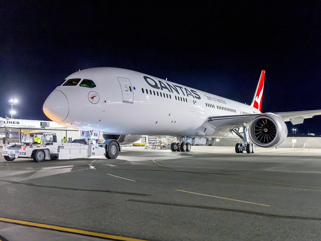 Qantas 787-9 Perth London
