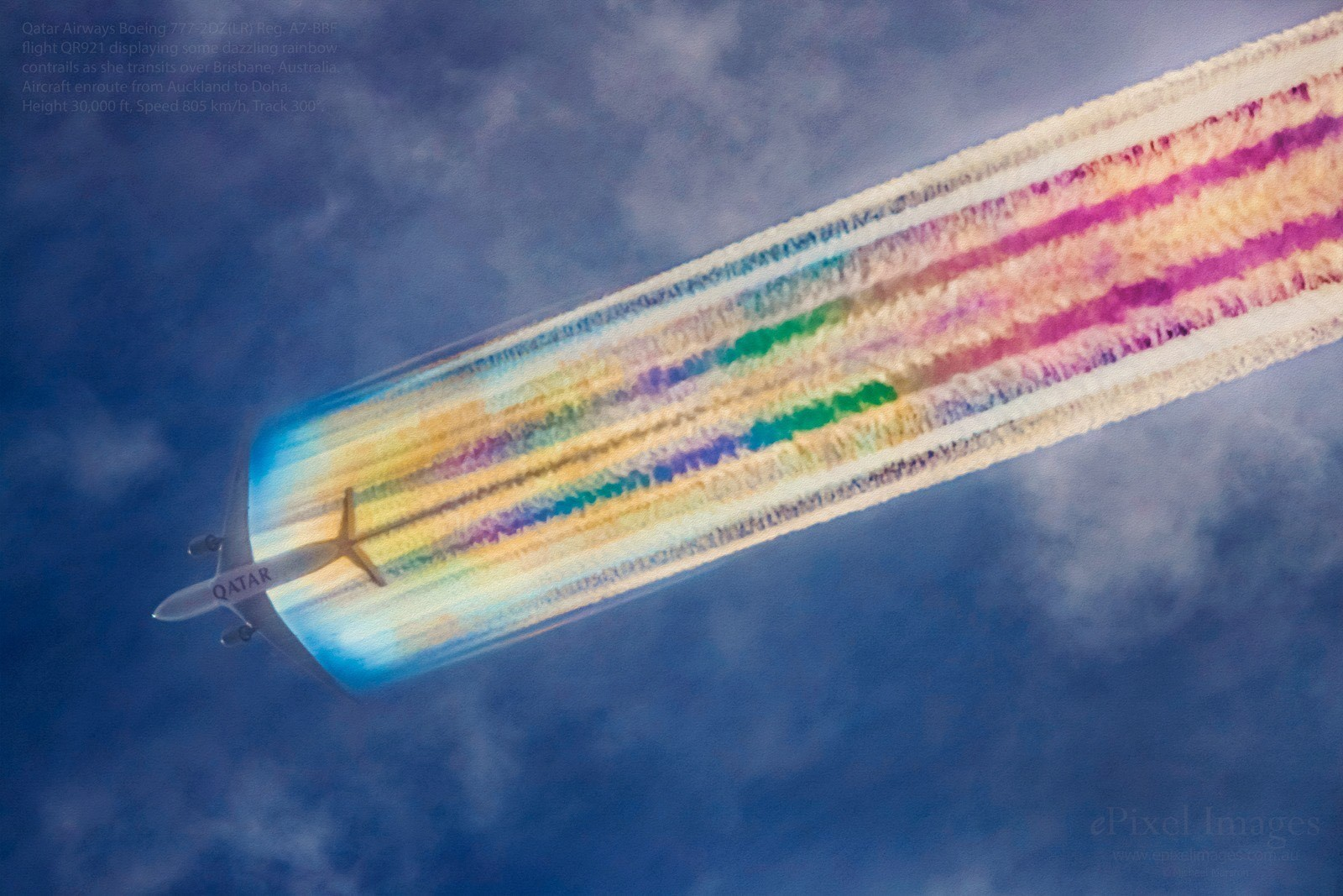 Amazing rainbow off a Qatar Airways 777-200LR - Airline Ratings