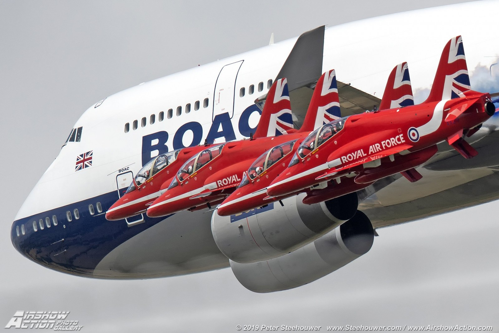 Striking pictures of British Airways' BOAC 747 and the Red