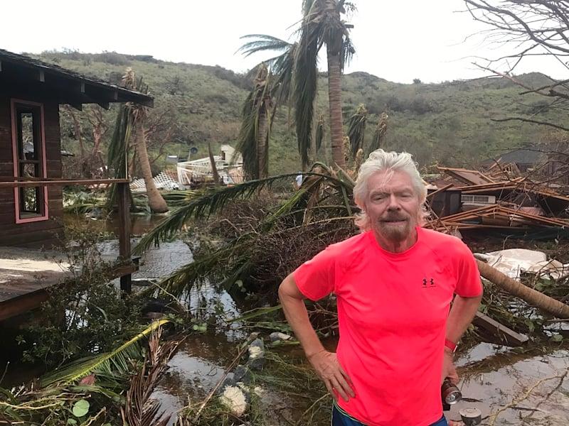 Richard Branson Irma island