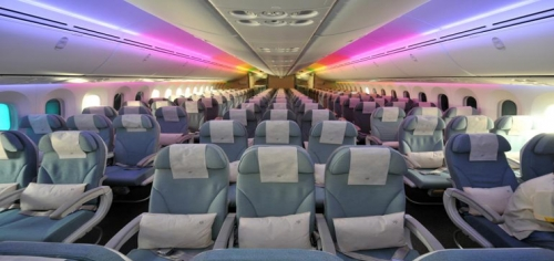 Economy Class on the 787 Dreamliner  Picture: Royal Brunei