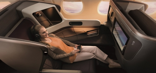 Singapore Airlines new Business Class suite
